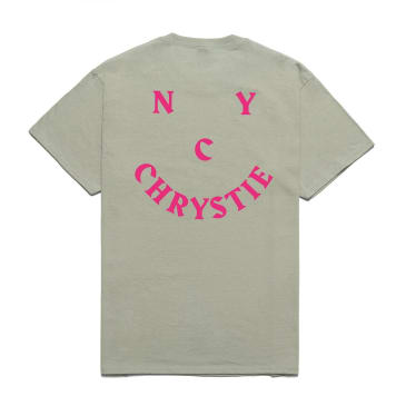 Chrystie NYC Smile Logo T-Shirt - Washed Green