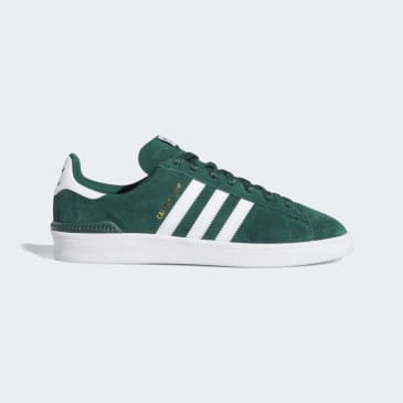 Adidas Campus ADV Shoes - Collegiate Green/Cloud White/Gold Metallic
