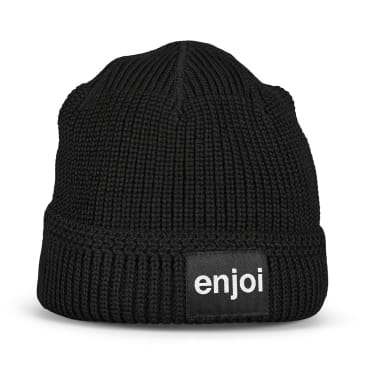 Enjoi Skateboards Reversible Logo Beanie - Black