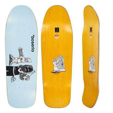 Polar Skate Co. Nick Boserio Knock Knock Light Blue Skateboard Deck - Dane 1 Shape
