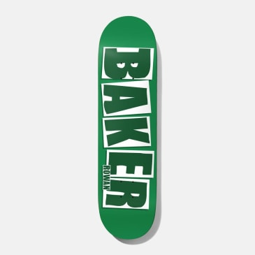 Baker Skateboards Rowan Zorilla Brand Name Green Skateboard Deck - 7.875