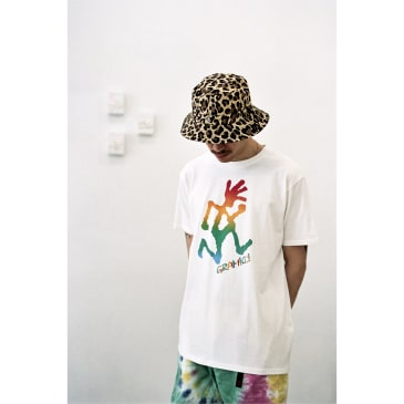 Tie-Dye Runningman Tee Cotton Jersey White