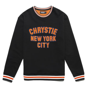 Chrystie NYC - Varsity logo crewneck sweater_Black