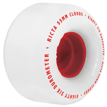 Ricta Clouds 86a White-Red Wheels - 57mm