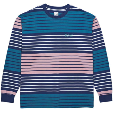 Polar Multi Colour Long Sleeve Tee - Navy/Pink