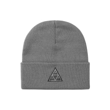 HUF Essentials Triple Triangle Cuff Beanie Grey Heather