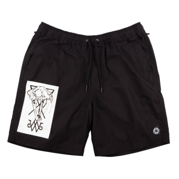 Welcome Skateboards Saberskull Soft Core Shorts - Black / White