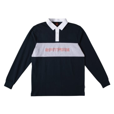 SPITFIRE Rugby Geary Shirt Navy/Grey Heather