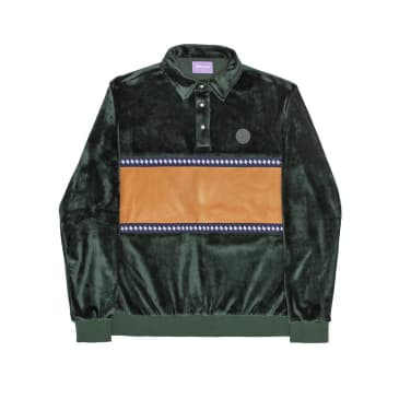 Alltimers J-Waves Velour Top - Forest Green