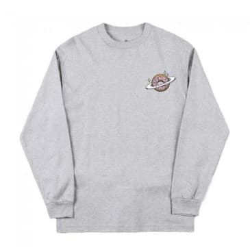 Skateboard Planet Donut Longsleeve T-Shirt - Heather Grey