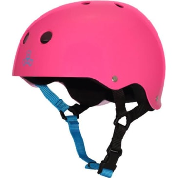 Triple Eight Protective Wear - Triple 8 Neon Gloss Fuscha Skate Helmet XS