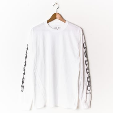 Hotel Blue Chains Long Sleeve White