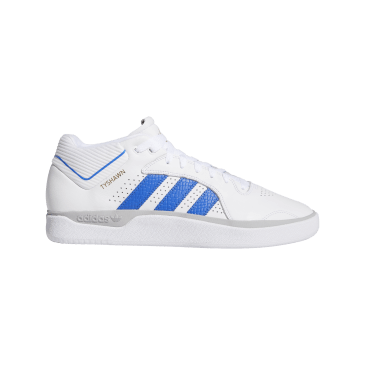 adidas Tyshawn Jones Skate Shoes - Cloud White / Blue / Gold Metallic