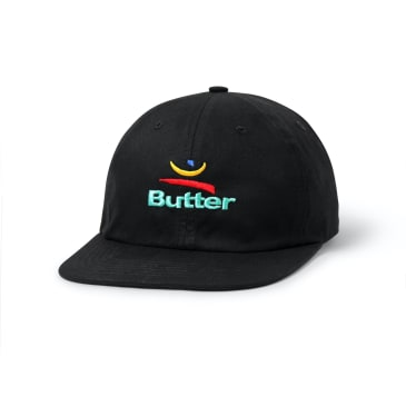 "BUTTER GOODS- ""92 SIX PANEL CAP"" (BLACK)"