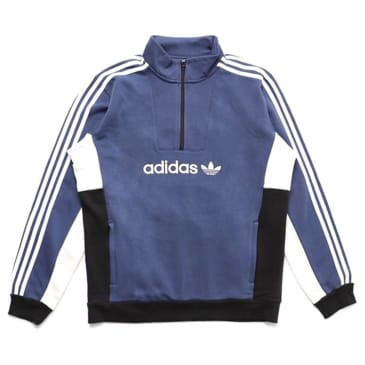 Adidas Skateboarding Mod 1/4 Zip Sweater Tech Indigo/Grey One/White/Black