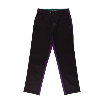 Welcome Skateboards Dark Wave Split-Colour Elastic Pants - Black / Grape