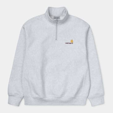 Carhartt WIP Half Zip American Script Sweat - Ash Heather
