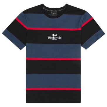 HUF Mazon Stripe Knit Tee Insignia Blue