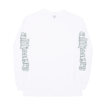 "ALLTIMERS- ""SKA SUCKS LONG SLEEVE T- SHIRT"" (WHITE)"