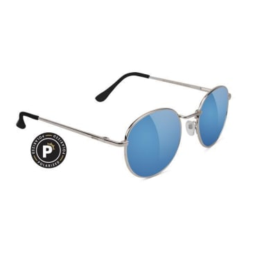 Glassy Carlos Polarized Silver/Teal Mirror