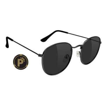 Glassy - Pierce High Roller Polarized Sunglasses - Black
