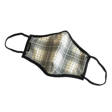 Brixton - Antimicrobial Face Mask - White Plaid