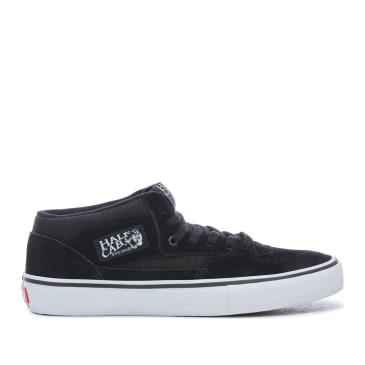 Vans Half Cab Pro Skate Shoes - Black / Black / White