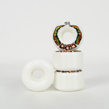 Welcome Skateboards - 52mm (99a) Orbs Apparitions Wheels - White