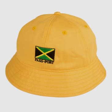"PASS~PORT ""JAMAICA"" BUCKET CAP YLW"