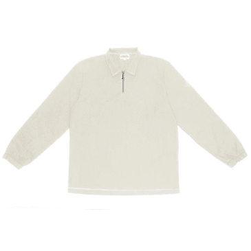 The National Skateboard Co. Quarter Zip Shirt - Stone (Collection 2)