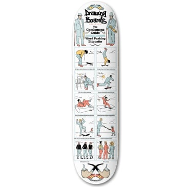 Drawing Boards Gents Deck | White | 8.00""