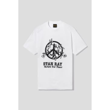 Stan Ray Action 4 Peace T-Shirt - White