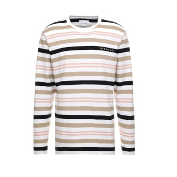 Diamond Supply Co. Marquise Striped Longsleeve T-Shirt - White