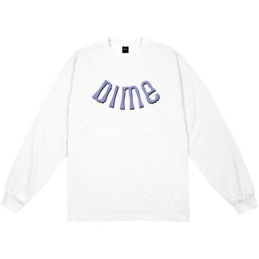 Dime Whirl Long Sleeve T-Shirt - White