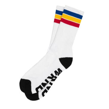 WKND Stripe Sock - White