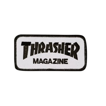 Thrasher Mag Logo Patch White - Black