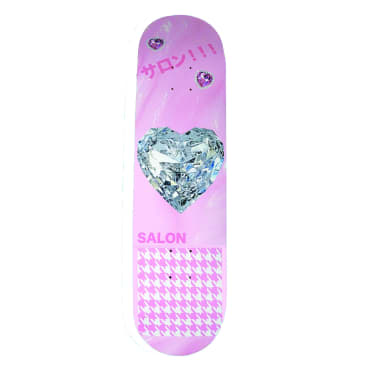 "Salon ""Diamond Heart"" Skateboard Deck 8.25"""