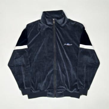 Yardsale - Cruz Velour Track Top - Wolf Grey