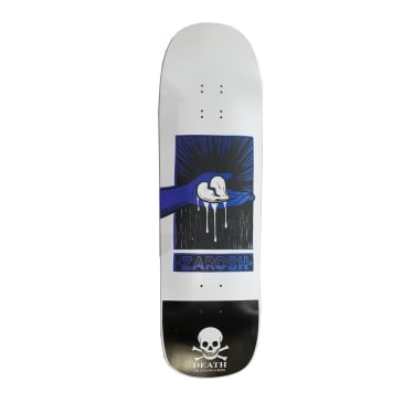 Death Skateboards Zarosh Hand Screened Heart White Skateboard Deck - 9.00