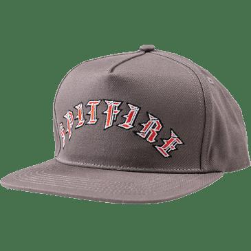 Spitfire Old E Snapback Hat Grey