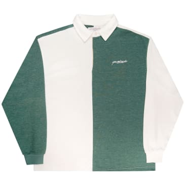 Yardsale - Tonic Longsleeve Polo Shirt - Forest / White