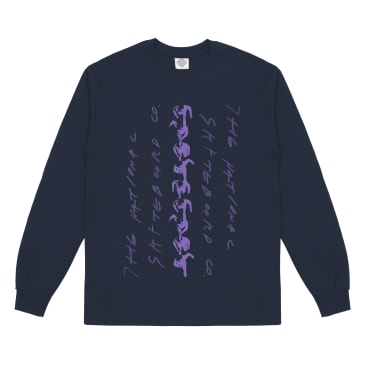 The National Skateboard Co. Walker Long Sleeve T-Shirt - Navy