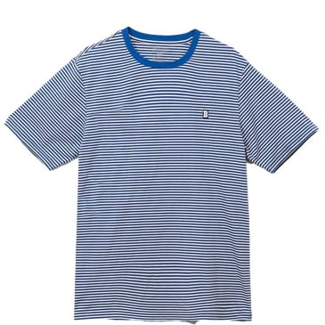 Baker Skateboards Capital B Striped T-Shirt - Blue