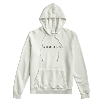 Numbers Wordmark Fleece Hoodie - Bone