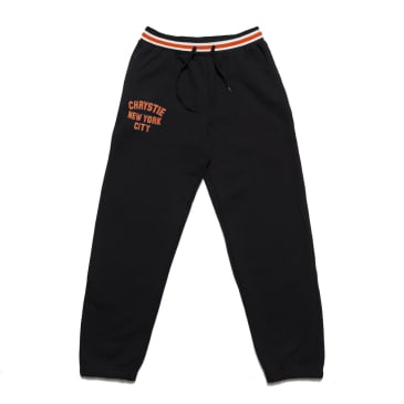Chrystie NYC - Varsity logo sweatpants_Black