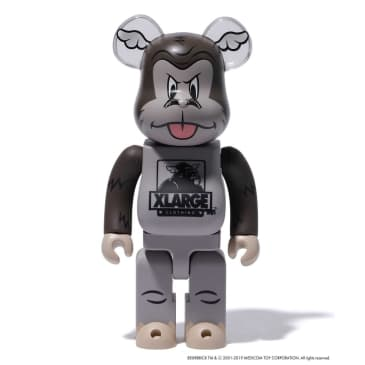 """X-LARGE - """"XLARGExD*FACE BE@RBRICK 400% & 100%"""" (CHARCOAL)"""