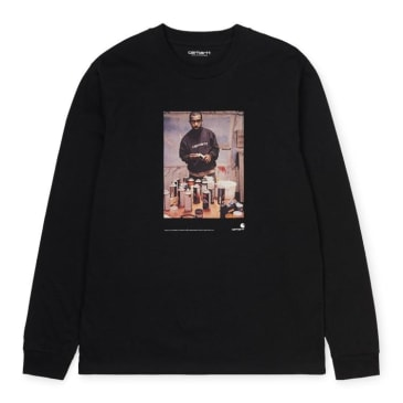 Carhartt WIP 1988 Ad Jay One Long Sleeve T-shirt - Black