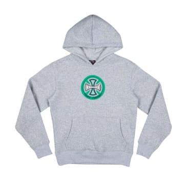 Independent Hollow Cross Youth Hoodie - Athletic Grey