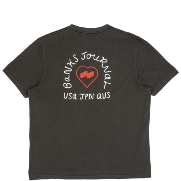 Banks Journal Heart Signs T-Shirt - Dirty Black