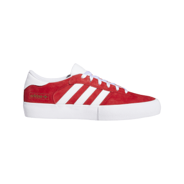 adidas Matchbreak Super Skate Shoes - Scarlet / FTWR White / Gold Met